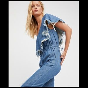 Blank NYC  jean jumpsuit NWT